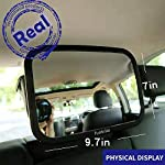Funbliss Baby Car Mirror for Back Seat Black — Safely Monitor Infant Child in Rear Facing Car Seat,Mirror for Baby in…