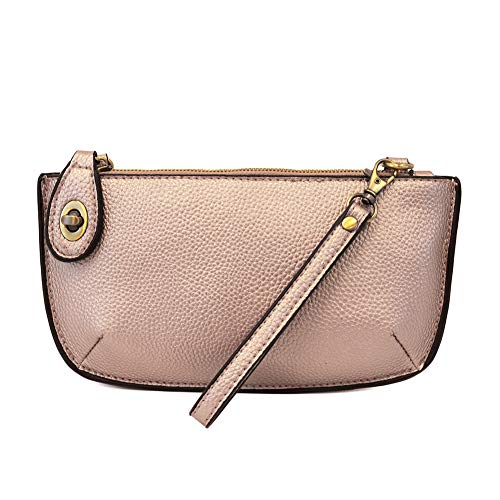 Joy Susan Mini Crossbody Wrislet Metallic Pink