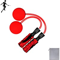 Benvo Weighted Ropeless Jump Rope Crossfit Speed Rope for Double Unders, Exercise, WOD, Boxing, MMA Training Fitness…