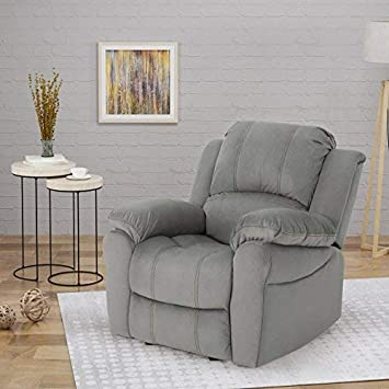 Christopher Knight Home 304654 Edwin Recliner, Grey Black