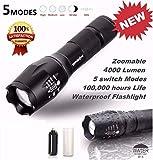 LEERYA 5000 Lumen 5 Modes T6 Zoomable LED 18650 Flashlight Torch Lamp Light G700 X800