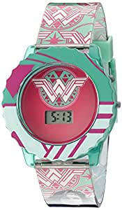 DC Comics Girl's Quartz Plastic Casual Watch, Color:Green (Model: BVS4025)