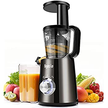 Argus Le Slow Juicer, Compact Design Masticating Juicer, High Nutrient Cold Press Juicer