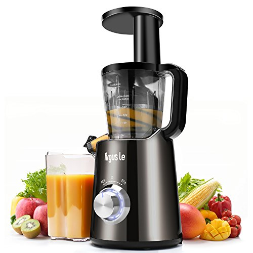 Argus Le Slow Juicer, High Nutrient and Juice Yield Masticating Juicer, Quick Clean Cold Press Juice Extractor, Fruit and Vegetable Juicer Machine