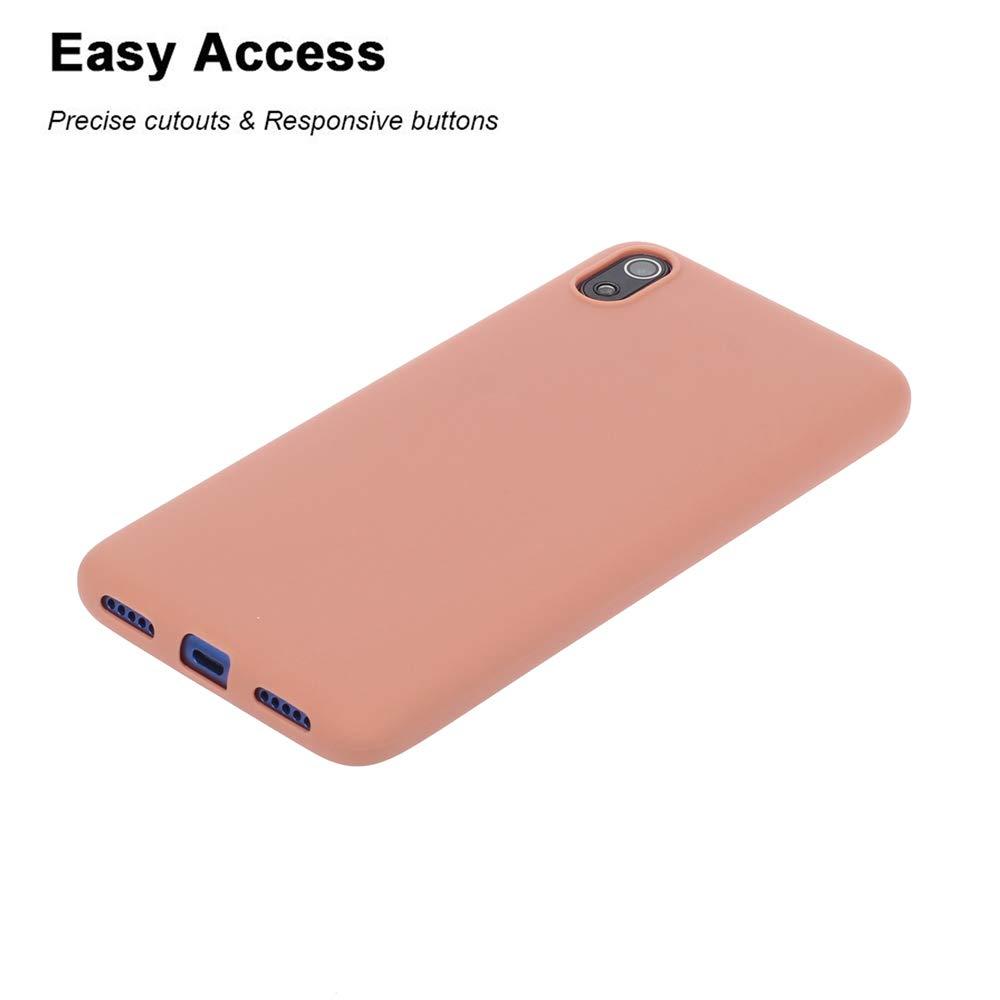 CASEWRS Funda para Xiaomi Redmi 7A Carcasa Caso Silicona Anti-Ara/ñazos Absorci/ón de Choque con Marco Reforzado de TPU Suave y Esquinas Reforzadas para Xiaomi Redmi 7A Pea Green