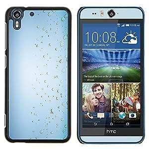 Stuss Case / Funda Carcasa protectora - Las gotas de lluvia Blanco brillante Agua - HTC Desire Eye ( M910x )