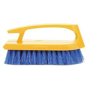Rubbermaid Commercial RCP6482COB RCP6482COB-Iron-Shaped Scrub, 6quot Brush, White Plastic Handle Bristles, (Navy Blue)