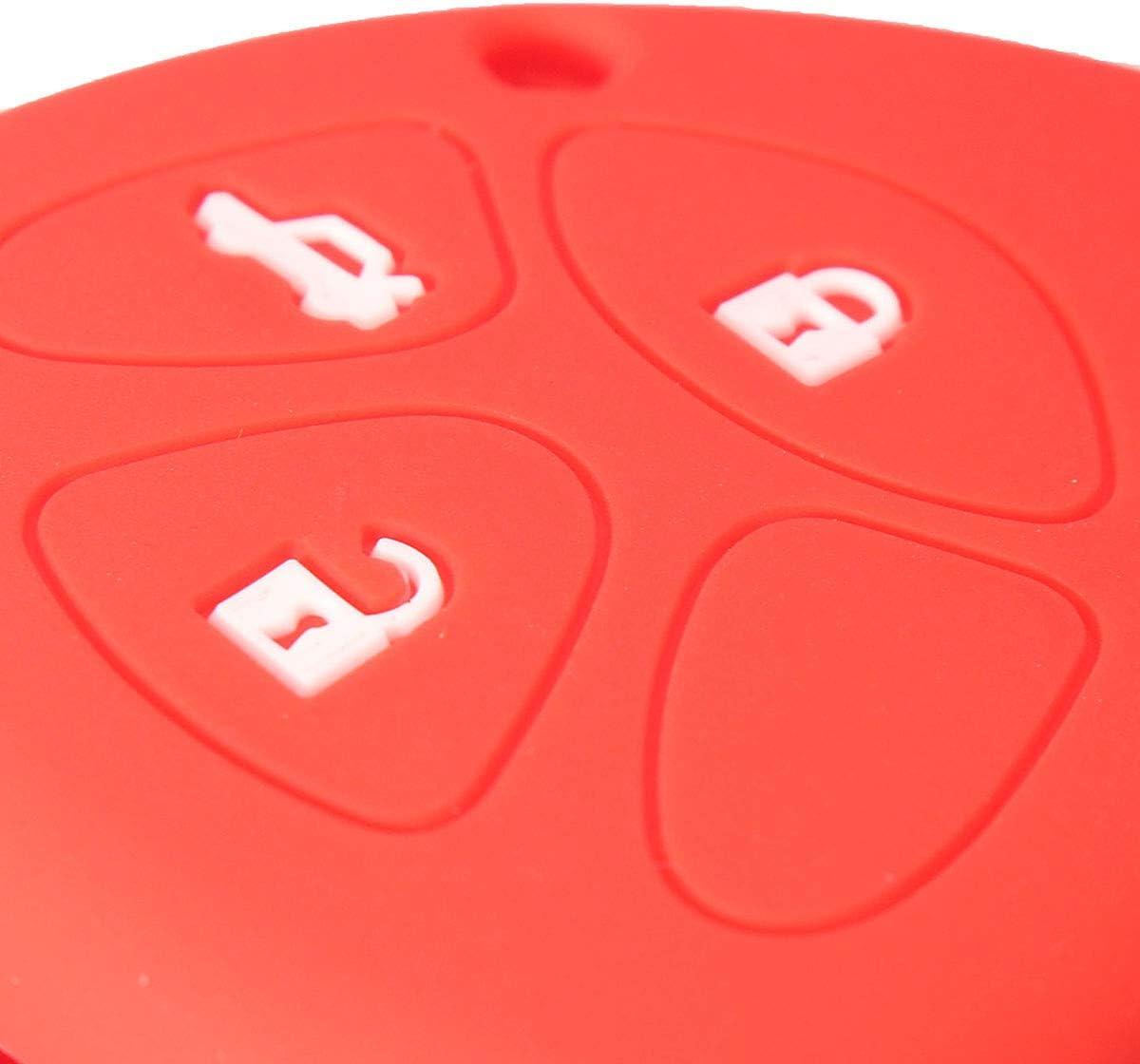 NICOLIE 3-Button Silicone Remoto Cover Portachiavi Caso Per Toyota Avensis Rav4 Scion-Rosso