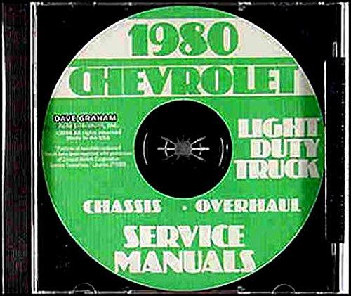 COMPLETE & UNABRIDGED 1980 CHEVY TRUCK & PICKUP REPAIR SHOP & SERVICE MANUAL 4x2, 4x4, C/K Series, G & P-series including Blazer, Suburban, Stake Body, Sportvan, Cutaway, Hi-Cube & Step Van