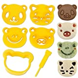 CuteZCute Animal Friends Kit para decoración de alimentos con cortador y sello