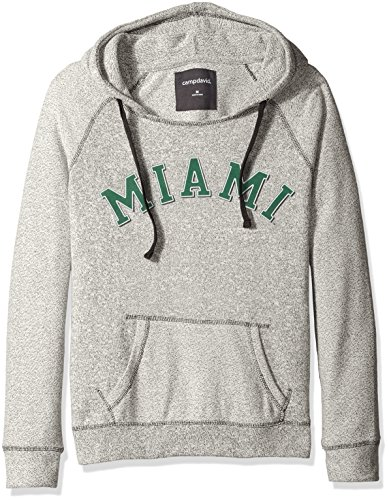 - NCAA Miami Hurricanes Women's Reverse Sleeve and Pocket Hoodie, Large, Pepper/Charcoal