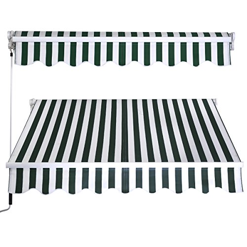eight24hours-manual-patio-8265-retractable-deck-awning-sunshade-shelter-canopy-outdoor-stripe-green-
