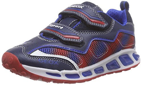 Geox J Shuttle Boy A - Zapatos para bebés Multicolor (Navy / Royal)