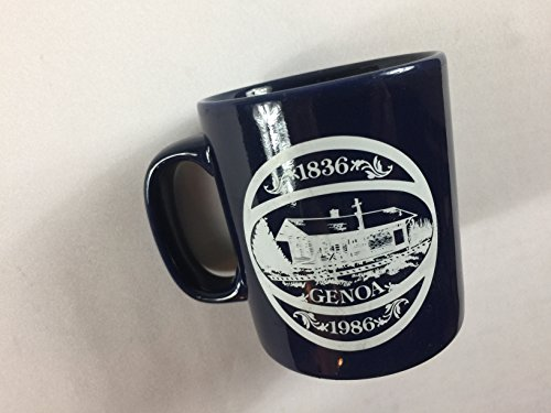 (Kiln Craft Mug Vintage Coffee Cup 1986 Genoa UK Made In England Great Britain 80s)