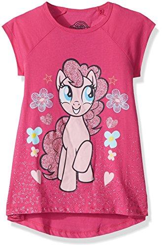 My Little Pony Big Girls' MLP Pinkie Pie Hi-Low T-Shirt, Pink, S