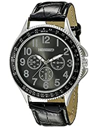 Hennessey Time Men's ML109 Analog Display Analog Quartz Black Watch