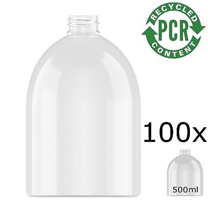 100% PCR – rPET Botella Neville Round, PET 500 ml Incluye cierre muy resistente