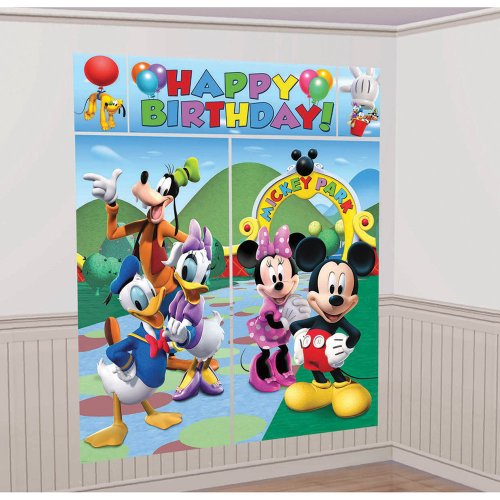Mickey Mouse Scene Setter - Birthday and Theme Party Supplies (Daisy Duck Birthday Supplies)