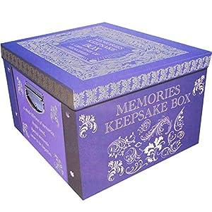 Amazon Com Purple Memories Keepsake Box Large