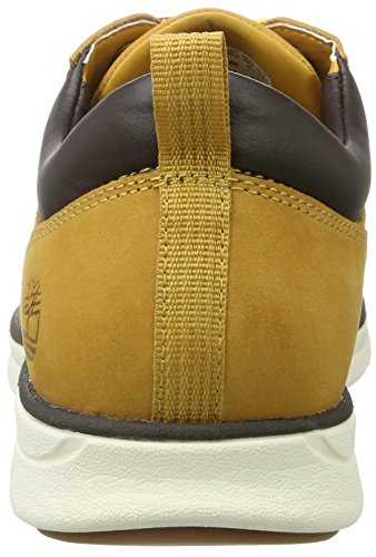 Timberland Bradstreet 5 Eye Ox, Scarpe Stringate Oxford Uomo Giallo (Wheat Nubuck)