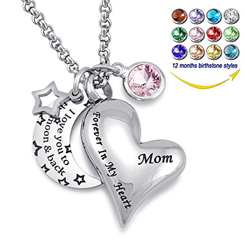 - YOUFENG Urn Necklaces for Ashes I Love You to The Moon and Back for Mom Cremation Urn Locket Birthstone Jewelry (June urn Necklace)