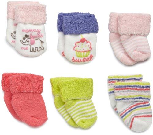 Carter's Hosiery Baby-Girls Infant 6 Pack Terry Wardrobe Socks