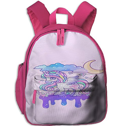 Little Girls Boys Cartoon Waterproof Kids Backpack With Adjustable Shoulder Straps Unicorn Horse Printed Mini Backpack Gift For Children In Pre School Or Kindergarten