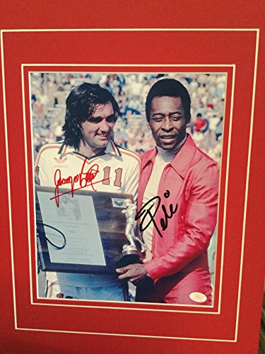 Soccer Legends Pele and George Best Rare Signed matted Photo with COA (George Best And Pele)