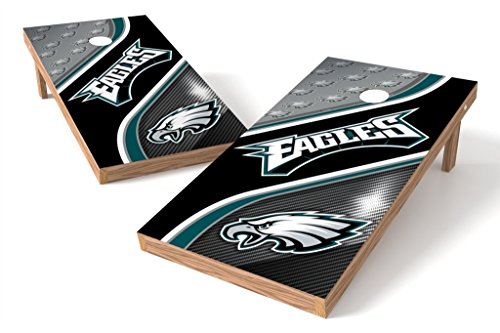 Nfl Eagles Philadelphia Set (PROLINE NFL Philadelphia Eagles 2'x4' Cornhole Board Set - Swirl Design)