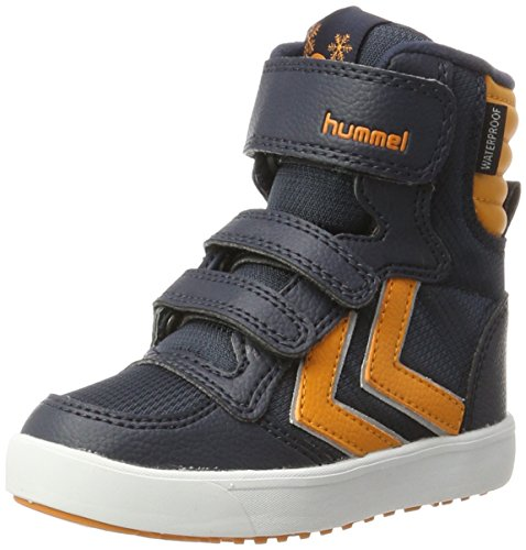 Hummel Unisex-Kinder Stadil Super Poly Boot Jr Schneestiefel Blau (ORANGE PEPPER)