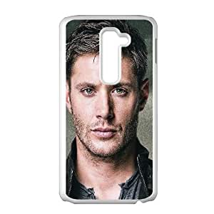 LG G2 Cell Phone Case White Dean Winchester Paint Film Face SUX_108450