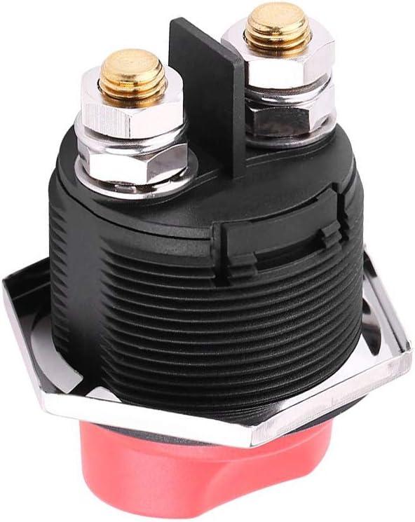 Folconauto Interrupteur de d/éconnexion disolateur de Batterie de Voiture 200 A on Off Coupe-Circuit Coupe-Batterie Robuste et r/ésistant /à leau pour v/éhicule RV ATV UTV de Voiture