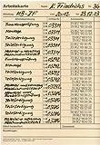Stempelkarte, BxH 148x210 mm, Typ 10,doppelseitig, mit 60 Stempelmöglichkeiten, VE 500 Stück