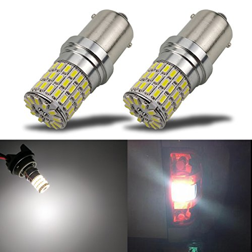 iBrightstar Newest 9-30V Extremely Bright 1156 1141 1003 BA15S LED Bulbs Replacement for Back Up Reverse Lights,Brake Lights,Tail Lights,Rv Lights,Xenon White