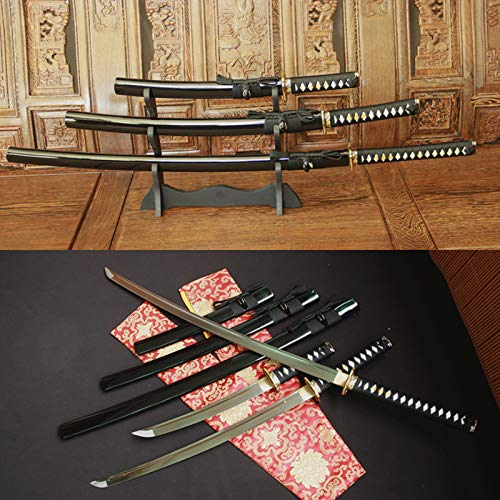 - Set of 3 Japanese Military Samurai Katana Sword Sharp High-Carbon Steel(Katana+Wakizashi+Tanto )