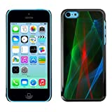 LASTONE PHONE CASE / Slim Protector Hard Shell Cover Case for Apple Iphone 5C / Cool Laser Blue Black Red Green