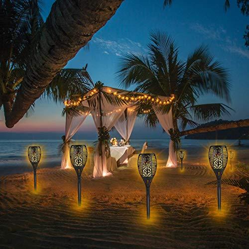 Piqiu Solar Torch Flame Lights Waterproof Dance Flashing Lighting Garden Courtyard Lighting Landscape Light Dusk to Dawn Auto On/Off Decorative Light 4 Pack by Piqiu (Image #6)