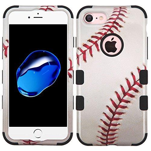 Junkie Baseball (Apple iPhone 7 Apple iPhone 8 Military Patent TUFF Dual Layer Hard Hybrid Shock Proof Rubberized Design Phone Case (Baseball))