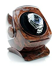 Versa Automatic Single Watch Winder with Sliding Cover in Burlwood