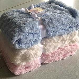 Amazon.com : Brand super soft rose fleece fluffy plush ...