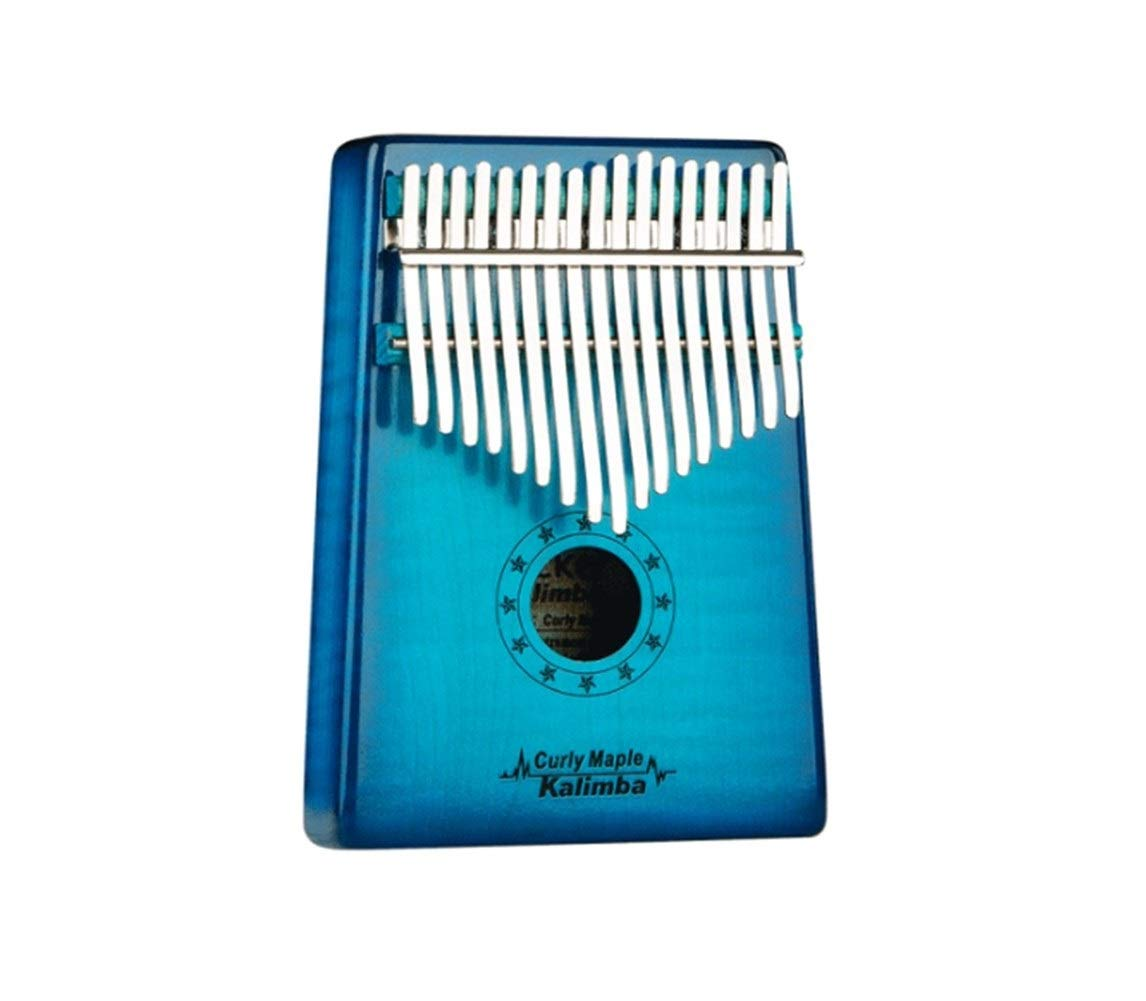 Youshangshipin Kalimbaqin, a selection of steel shrapnel 17-tone Kalimba thumb piano, suitable for beginners to play beautiful gifts, (gifts; velvet bag + thumb piano + spectrum tuning hammer) Classic
