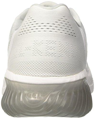 Gel Blanc Glacier Chaussures Femme de Running Grey White Asics Kenun 7qaFxaR