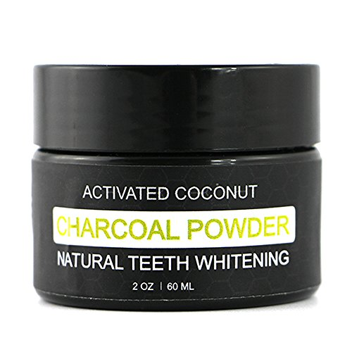Teeth Whitening Powder - Natural Activated Charcoal Coconut Toothpaste - Stain Remover Non Sensitive - Gum Health - Vakker