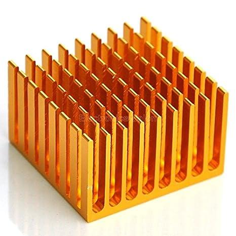 Electronics-Salon 2PCS Alluminio dissipatore di calore 1,48 x 1,44 x 0,93 dissipatore di calore.