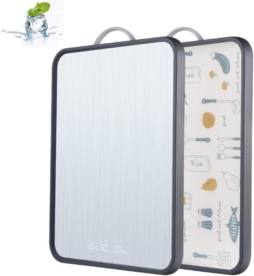 Doppio Lato Acciaio Inox//Materiale PP Alimenti So per Carne Frutta e Verdura Formaggio SKY TEARS Tagliere da Cucina in Acciaio Inox 304 Tagliere Rettangolare