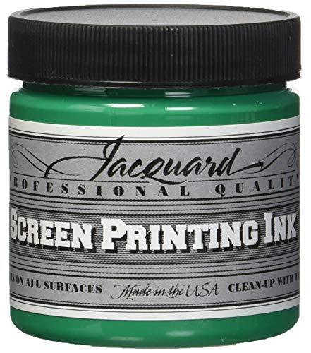 (Jacquard JAC-JSI1129 Screen Printing Ink, 4 oz, Opaque Green)