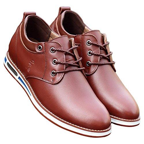 pelle Leisure scarpe brown Scarpe inglesi uomo NSHX di Fashion wAxX0