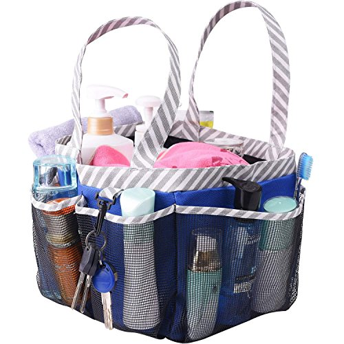 Haundry Mesh Shower Caddy Tote, Large Dorm College Bathroom tote Bag Portable for Camp ()