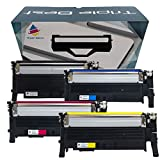 Triple Best Set of 4 Compatible Laser Toner Cartridges for Samsung CLT-K404S CLT-C404S CLT-M404S CLT-Y404S for Samsung Xpress C430w C480fw Printers NEW CHIPS!