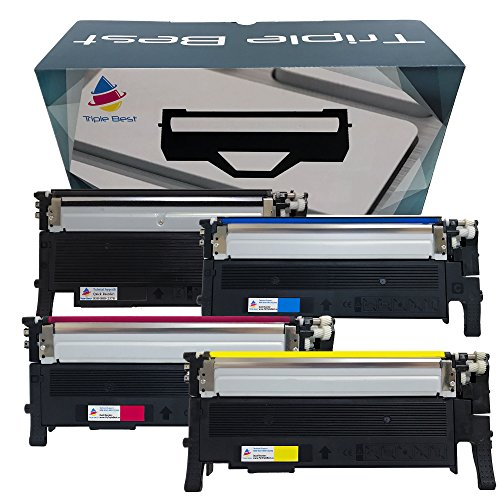 TripleBest Set of 4 Compatible Laser Toner Cartridges for Samsung CLT-K404S CLT-C404S CLT-M404S CLT-Y404S